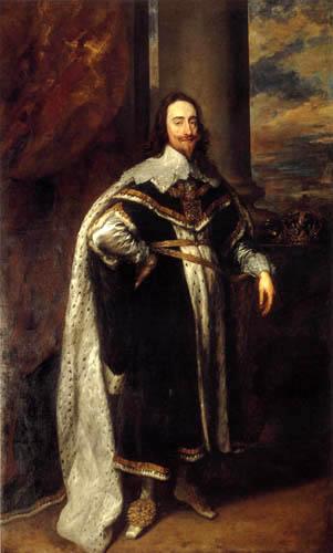 Sir  Anthonis van Dyck - Karl I. im Staatsornat