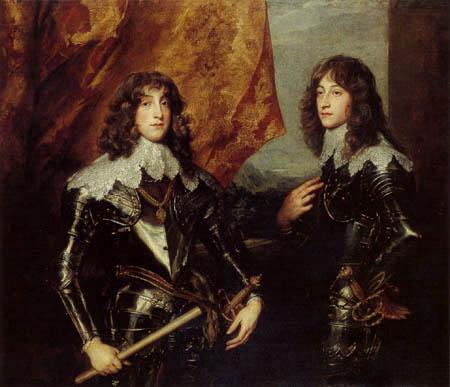 Sir  Anthonis van Dyck - Prince Carl Ludwig and Prince Ruprecht