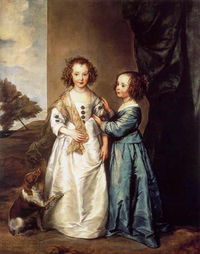 Sir  Anthonis van Dyck - Philadelphia und Elizabeth Wharton