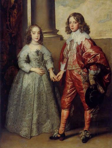 Sir  Anthonis van Dyck - Wilhelm II. und Maria Prinzessin von England