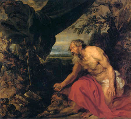 Sir  Anthonis van Dyck - Saint Jerome