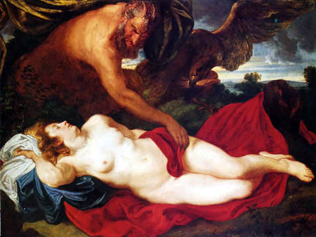 Sir  Anthonis van Dyck - Jupiter als Satyr