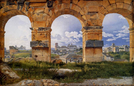 Christoffer V. Eckersberg - View from Colosseum