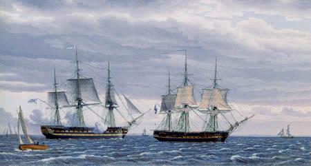 Christoffer V. Eckersberg - Russische Dreimaster