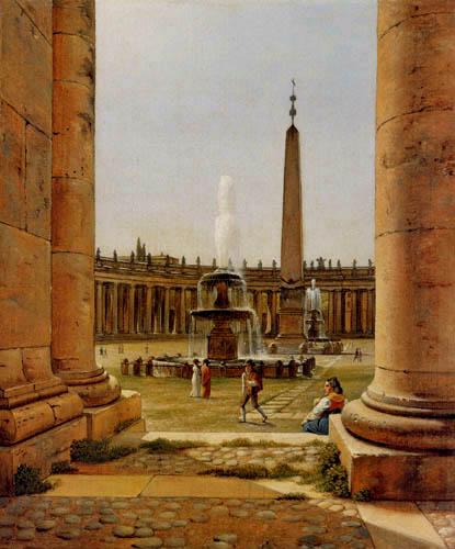 Christoffer V. Eckersberg - St. Peter´s Square Rome