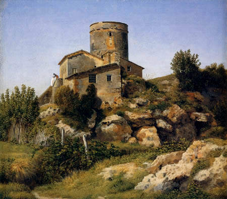 Christoffer V. Eckersberg - Building in the Roman Campagna