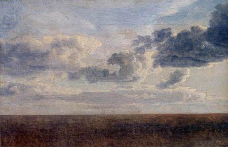 Christoffer V. Eckersberg - Wolkenstudie über der See