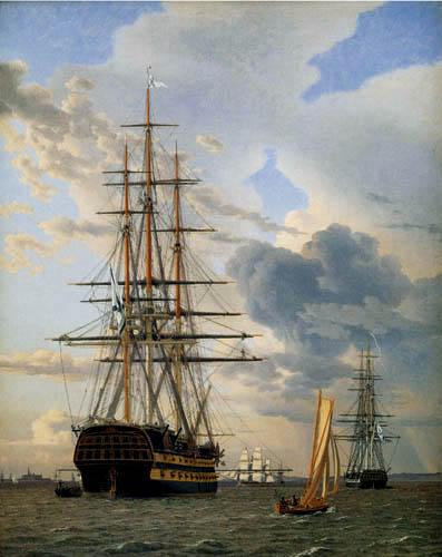 Christoffer V. Eckersberg - Das russische Linienschiff