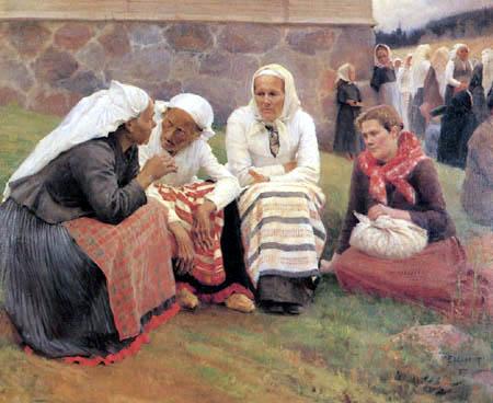 Albert Edelfelt - Women at the church