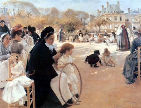 Albert Edelfelt - Luxembourg Garten, Paris