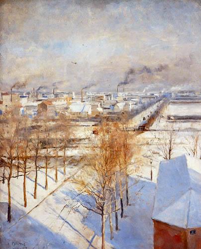 Albert Edelfelt - Paris im Schnee