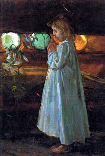Albin Egger-Lienz - Praying girl