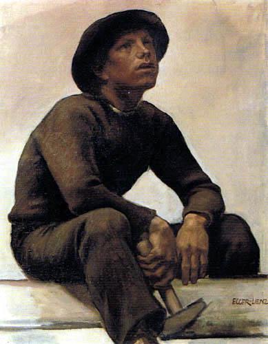 Albin Egger-Lienz - Boy