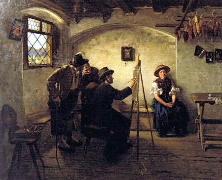 Albin Egger-Lienz - The portrait painter in the country