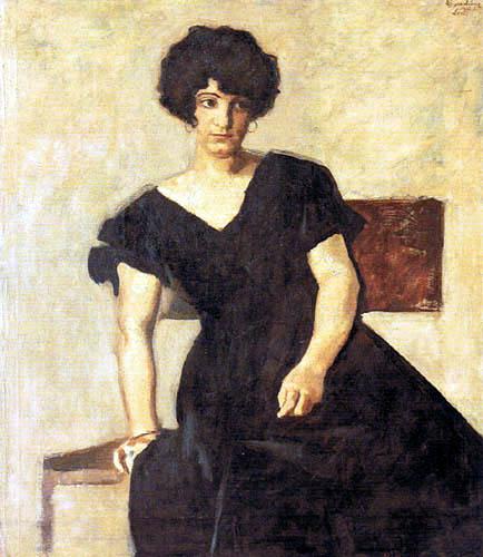 Albin Egger-Lienz - The Artist's Daughter Lorli