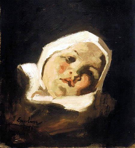 Albin Egger-Lienz - Tête d'enfant