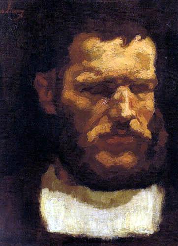 Albin Egger-Lienz - Tête de un homme