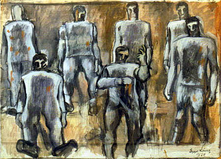 Albin Egger-Lienz - Protest of the Dead I