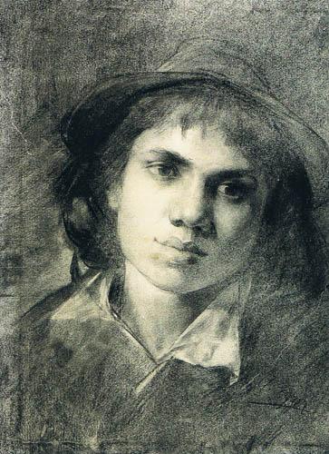 Albin Egger-Lienz - Portrait d'un garçon