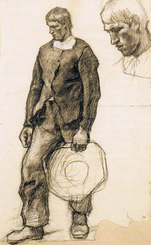 Albin Egger-Lienz - Study for the first pilgrim