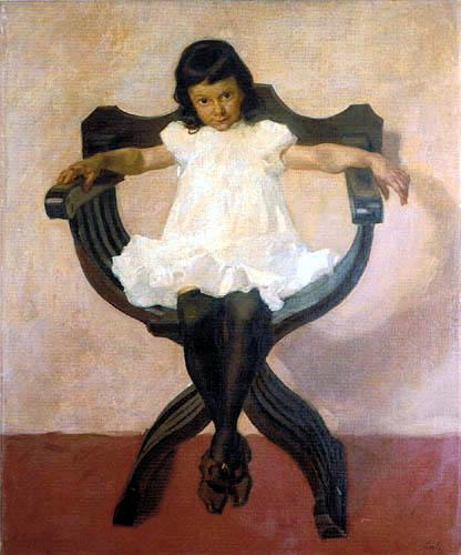 Albin Egger-Lienz - Portrait of the Daughter Lorli