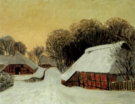 Hans am Ende - Winter in Worpswede