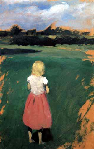 Hans am Ende - A girl on the meadow