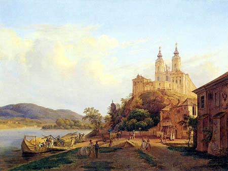 Thomas Ender - View of the Monastery Melk