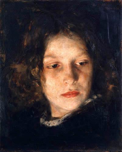 Alois Erdtelt - Head of a Girl