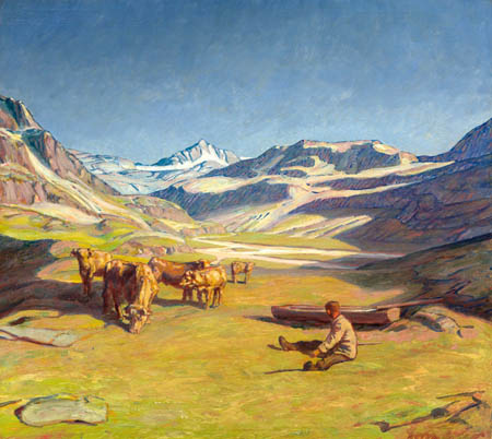 Erich Erler-Samaden - Sunny summer day in the Alps