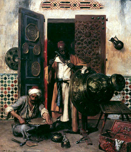Rudolf Ernst - The coppersmith's shop