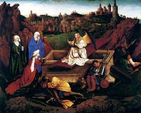 Hubert van Eyck - Three Marys at the tomb