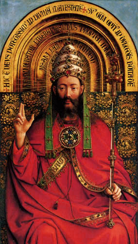 Jan van Eyck - Ghent Altarpiece, God