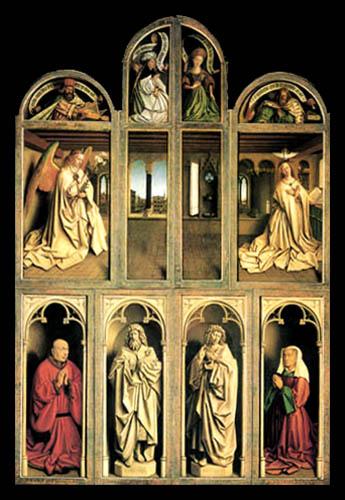Jan van Eyck - Ghent Altarpiece, Exterior