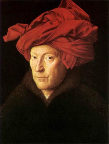 Jan van Eyck - A man with red turban