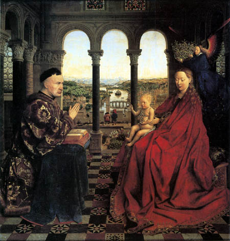Jan van Eyck - The Virgin of Chancellor Nicolas Rolin