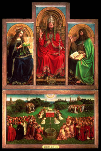 Jan van Eyck - Ghent Altarpiece, Central Panel