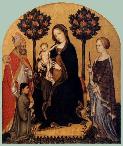Gentile da Fabriano - Thronende Maria