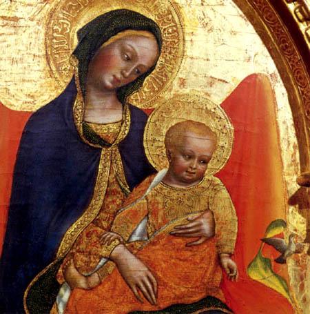Gentile da Fabriano - Madona con Niño, detalle