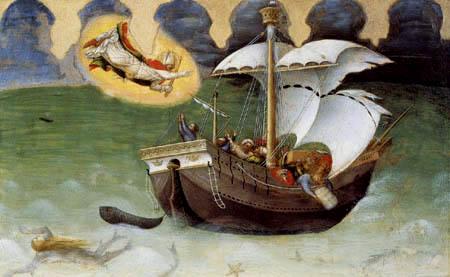 Gentile da Fabriano - Der hl. Nikolaus rettet ein Schiff