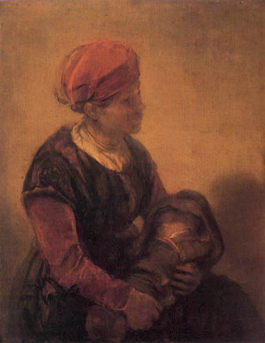 Barent Fabritius - Woman with baby