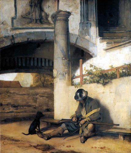 Carel Fabritius - The gate guard