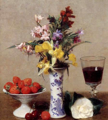 Henri Fantin-Latour - Stillleben mit Fruchtschale