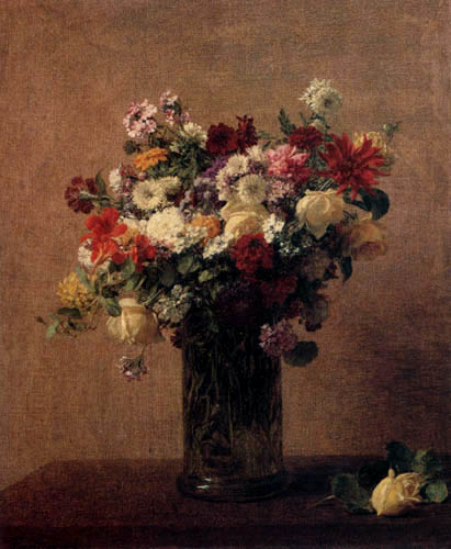 Henri Fantin-Latour - Still life with flowers