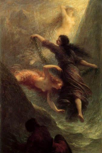 Henri Fantin-Latour - Szene aus 'Das Rheingold'