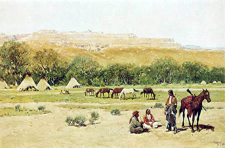 Henry F. Farny - Indian Encampment