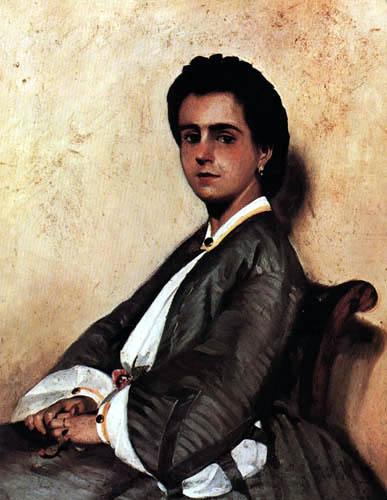 Giovanni Fattori - Porträt der Cousine Argia