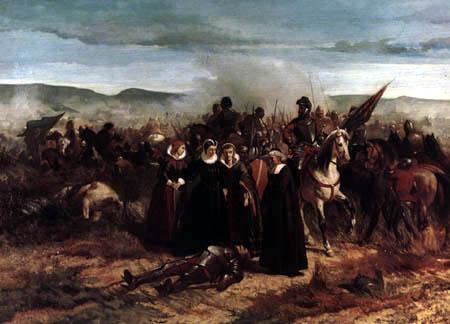Giovanni Fattori - Maria Estuardo auf dem Feld von Crookstone