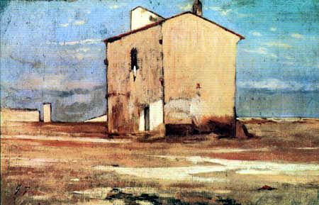 Giovanni Fattori - Das Pumpenhaus von Livorno
