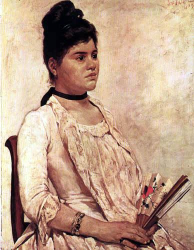 Giovanni Fattori - Porträt der Stieftochter Julia